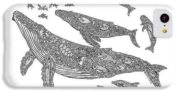 Hawaiian Humpbacks IPhone 5c Case by Carol Lynne