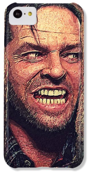 Here's Johnny - The Shining  IPhone 5c Case by Taylan Apukovska