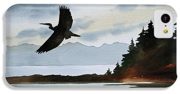 Heron Silhouette IPhone 5c Case by James Williamson