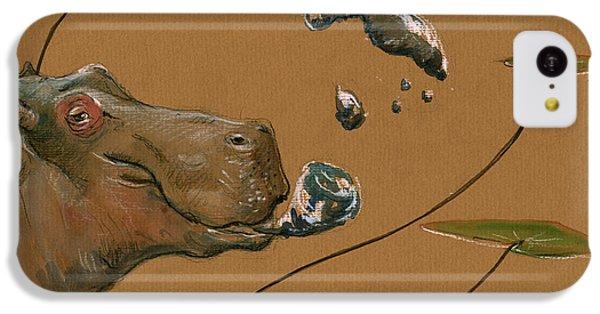 Hippo Bubbles IPhone 5c Case by Juan  Bosco