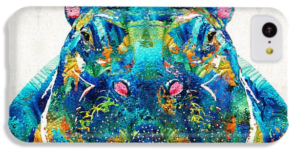 Hippopotamus Art - Happy Hippo - By Sharon Cummings IPhone 5c Case by Sharon Cummings