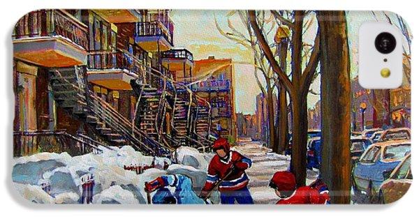 Hockey On De Bullion  IPhone 5c Case by Carole Spandau