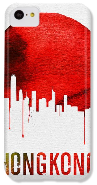 Hong Kong Skyline Red IPhone 5c Case by Naxart Studio