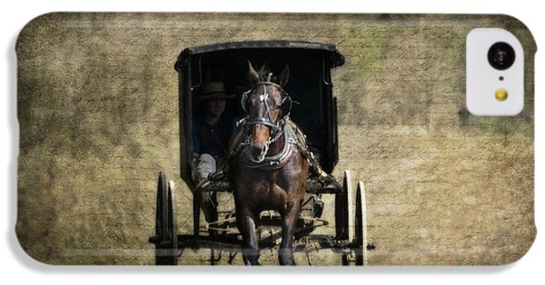 Horse And Buggy IPhone 5c Case by Tom Mc Nemar