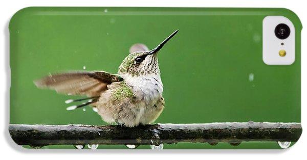 Hummingbird In The Rain IPhone 5c Case by Christina Rollo