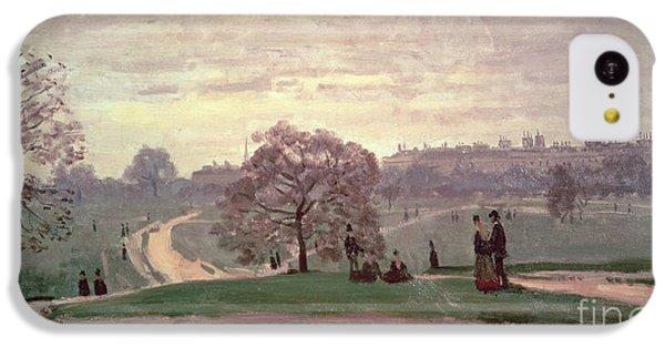 Hyde Park IPhone 5c Case by Claude Monet
