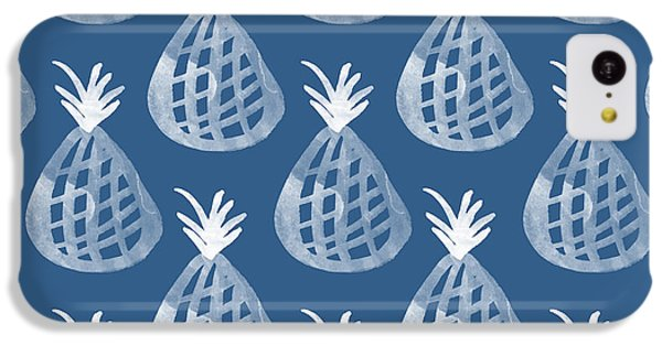 Indigo Pineapple Party IPhone 5c Case by Linda Woods