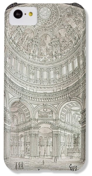 Interior Of Saint Pauls Cathedral IPhone 5c Case by John Coney