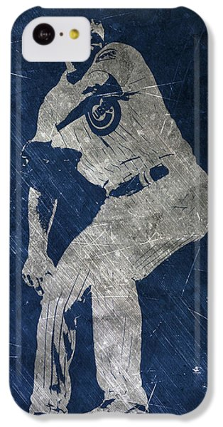 Jake Arrieta Chicago Cubs Art IPhone 5c Case by Joe Hamilton