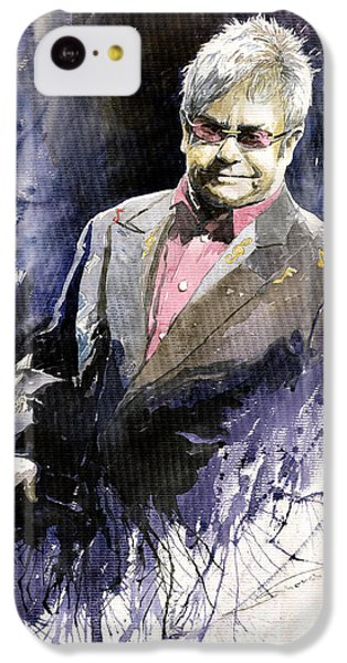 Jazz Sir Elton John IPhone 5c Case by Yuriy  Shevchuk