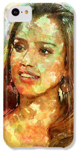Jessica Alba IPhone 5c Case by Elena Kosvincheva