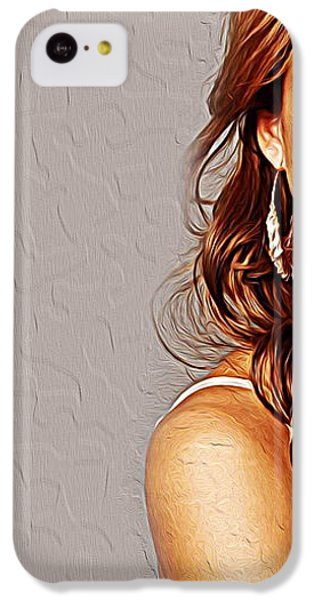 Jessica Alba IPhone 5c Case by Iguanna Espinosa