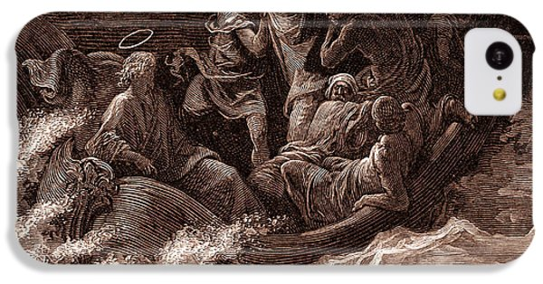 Jesus Stilling The Tempest IPhone 5c Case by Gustave Dore