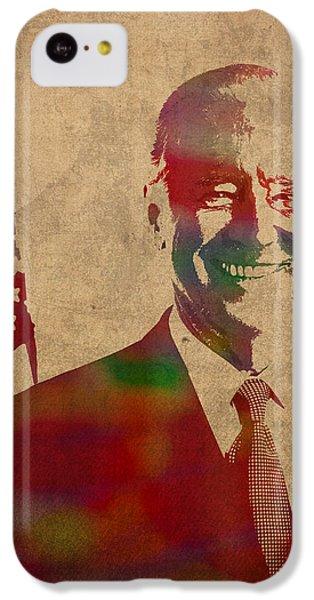 Joe Biden Watercolor Portrait IPhone 5c Case by Design Turnpike