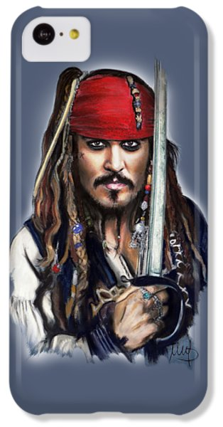 Johnny Depp As Jack Sparrow IPhone 5c Case by Melanie D
