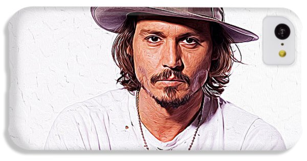 Johnny Depp IPhone 5c Case by Iguanna Espinosa