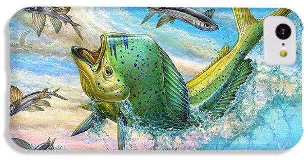 Jumping Mahi Mahi And Flyingfish IPhone 5c Case by Terry Fox