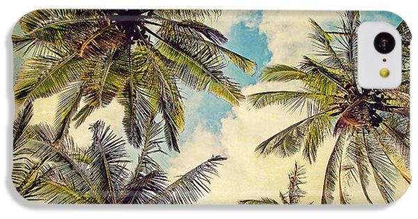 Kauai Island Palms - Blue Hawaii Photography IPhone 5c Case by Melanie Alexandra Price