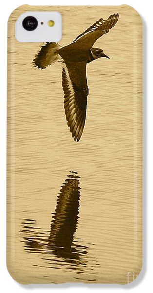 Killdeer Over The Pond IPhone 5c Case by Carol Groenen