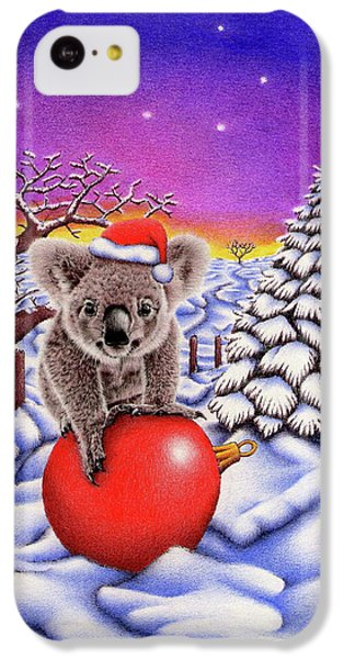 Koala On Christmas Ball IPhone 5c Case by Remrov