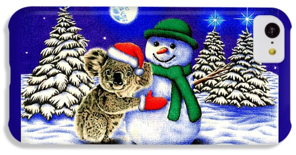 Koala With Snowman IPhone 5c Case by Remrov