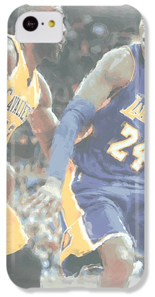 Kobe Bryant Lebron James 2 IPhone 5c Case by Joe Hamilton