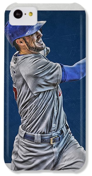 Kris Bryant Chicago Cubs Art 3 IPhone 5c Case by Joe Hamilton
