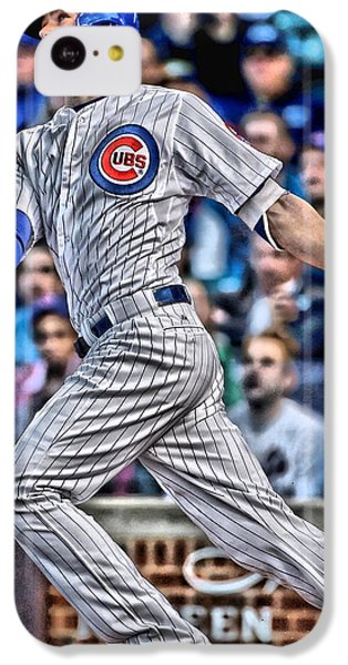 Kris Bryant Chicago Cubs IPhone 5c Case by Joe Hamilton