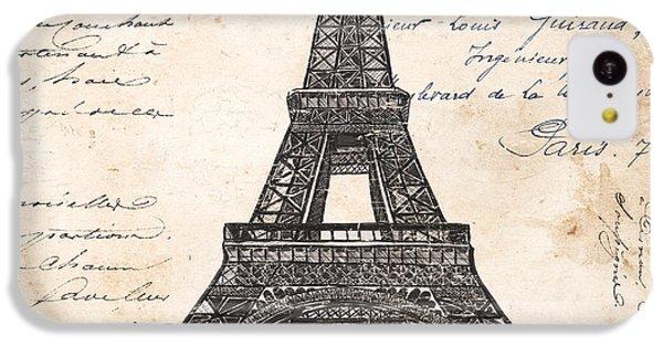 La Tour Eiffel IPhone 5c Case by Debbie DeWitt
