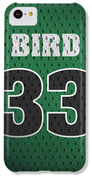 Larry Bird Boston Celtics Retro Vintage Jersey Closeup Graphic Design IPhone 5c Case by Design Turnpike