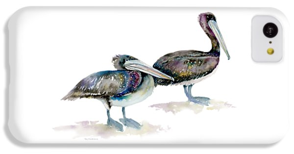 Laurel And Hardy, Brown Pelicans IPhone 5c Case by Amy Kirkpatrick