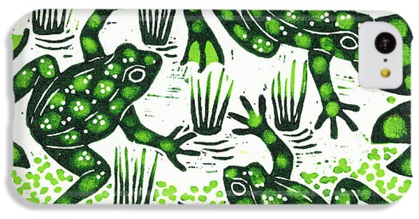 Leaping Frogs IPhone 5c Case by Nat Morley