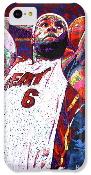 Lebron Dunk IPhone 5c Case by Maria Arango