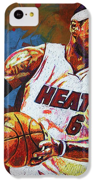 Lebron James 3 IPhone 5c Case by Maria Arango