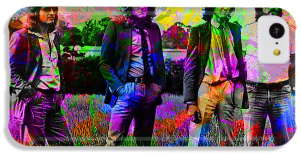 Led Zeppelin Band Portrait Paint Splatters Pop Art IPhone 5c Case by Design Turnpike