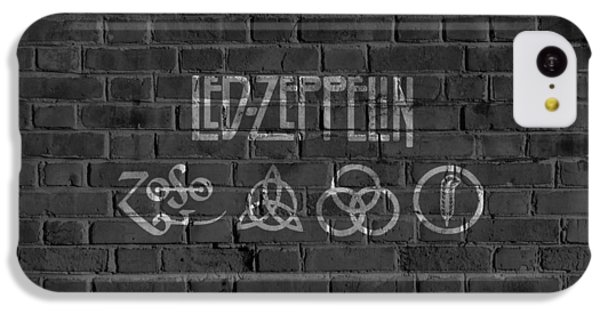 Led Zeppelin Brick Wall IPhone 5c Case by Dan Sproul