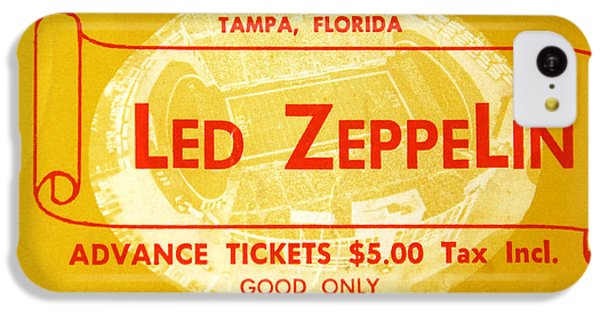 Led Zeppelin Ticket IPhone 5c Case by David Lee Thompson