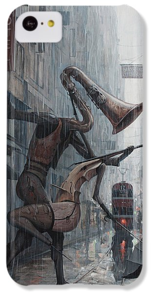 Life Is  Dance In The Rain IPhone 5c Case by Adrian Borda