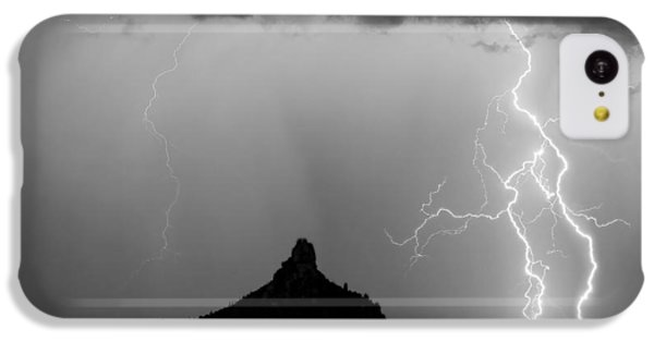 Lightning Thunderstorm At Pinnacle Peak Bw IPhone 5c Case by James BO  Insogna