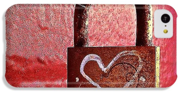 Lock/heart IPhone 5c Case by Julie Gebhardt