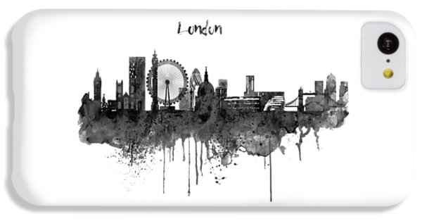 London Black And White Skyline Watercolor IPhone 5c Case by Marian Voicu