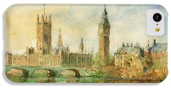 London Parliament IPhone 5c Case by Juan  Bosco