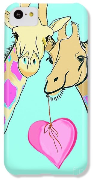 Long Neck Love IPhone 5c Case by Susie Cunningham