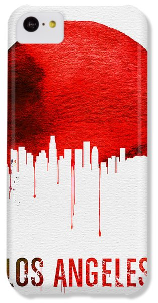 Los Angeles Skyline Red IPhone 5c Case by Naxart Studio