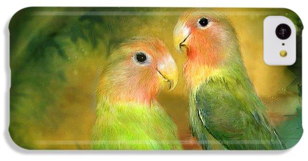 Love In The Golden Mist IPhone 5c Case by Carol Cavalaris