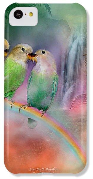 Love On A Rainbow IPhone 5c Case by Carol Cavalaris