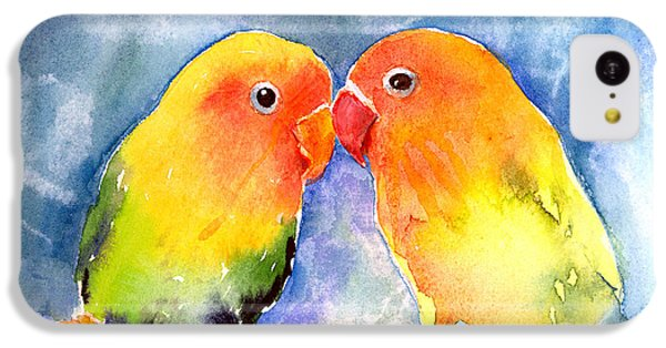 Lovey Dovey Lovebirds IPhone 5c Case by Arline Wagner