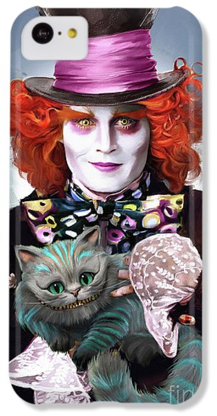 Mad Hatter And Cheshire Cat IPhone 5c Case by Melanie D