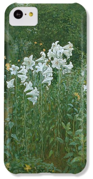 Madonna Lilies In A Garden IPhone 5c Case by Walter Crane
