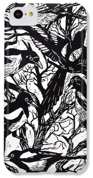 Magpies IPhone 5c Case by Nat Morley